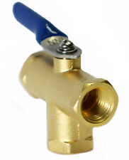 """1/4"""" Female NPT 3 way Mini Brass Ball VAlve L PORT for Fuel Oil, Gas or Water"""