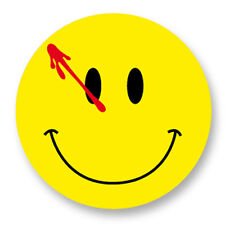 """Pin Button Badge Ø25mm 1"""" The Watchmen Bloody Smile Smiley DC Comics"""