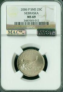 2006-P NEBRASKA QUARTER NGC MS69 SMS PQ MAC FINEST REGISTRY MAC SPOTLESS *