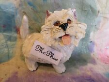 "DOGS! ""McPhee"" Whimsiclay White Westie sculpture w/2 free doggie pins-$14 value!"