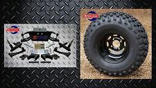 "Club Car DS Golf Cart 6"" A-Arm Lift Kit + 10"" Wheels and 22"" AT Tires 1982-2003"