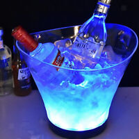 6L Bar LED Ice Bucket Chilled Champagne Whiskey Vodka Beer Cooler Container