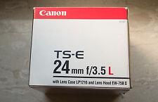 Canon EF TS-E 24mm f3.5 L
