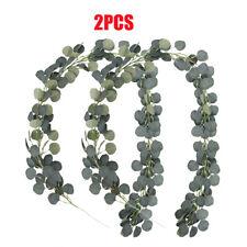 2pcs Artificial Greenery Garland Faux Silk Eucalyptus Vines Wreath Wedding Decor