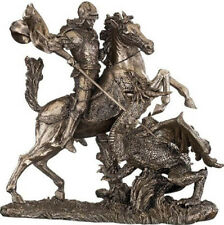 Saint George Slaying The Dragon Cold Cast Bronze Sculpture by Veronese WU73533