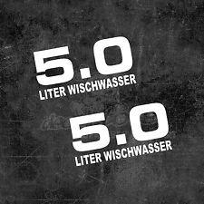 2x 5 Liter Wischwasser Auto Aufkleber Tuning Sticker Autoaufkleber 5.0