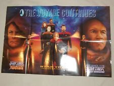 "Rare 1994 Paramount Pictures Star Trek ""The Voyage Continues"" Poster 22"" x 34"""