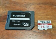 Toshiba Exceria M302 64GB Micro SD Memory Card UHS-III With SD Adapter