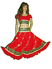 Ladies Sequin Embroidery Bollywood Dancing Skirt-Top Set Belly Dance Costume
