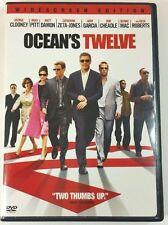 Ocean's Twelve DVD / George Clooney, Brad Pitt, Matt Damon Widescreen Edition