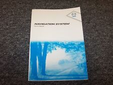 2011 Mazda CX7 CX9 Navigation System Owner Owner's Operaator User Guide Manual