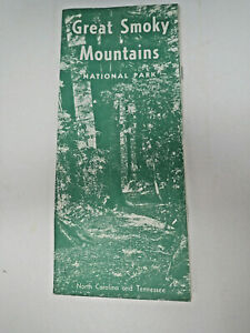 Vintage 1964 Great Smoky Mountains National Park Foldout Brochure