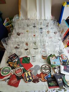 pint glasses job lot - 50, various designs and breweries, incl. limited edition