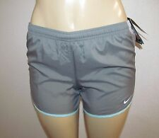 NWT WOMENS NIKE GREY & LIGHT BLUE STAY COOL DRY FIT RUNNING SHORTS SIZE XS