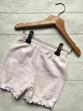 Baby Girl's Clothes 9-12mths - Cotton Pastel Striped Pull On Shorts MOTHERCARE