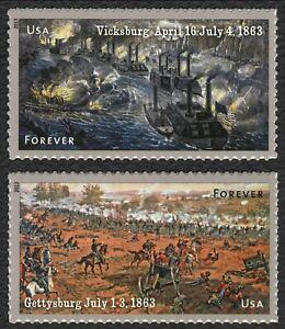 #4787-88 Civil War 1863, Singles, Mint **ANY 5=FREE SHIPPING**