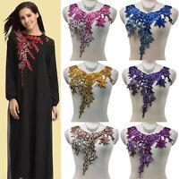 1pcs Fabric Flower Lace Venise Sewing Applique Collar Neckline Applique Craft