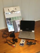 Personnal DVP707UK portable DVD player, used in box with full accessories