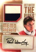 13-14 itg btp pipes rick wamsley montreal canadiens memo autograph auto