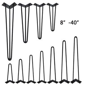 "8""-40"" Hairpin Legs Industrial Metal Table Leg Set of 4 Coffee Bench Furniture"