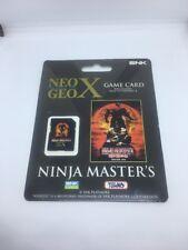 Neo Geo X Ninja Masters - Game Card For Use With Geo Neo X