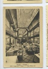 SS Paris Postcard - 1st Class Dining Room / Salle a Manger - CGT French Line