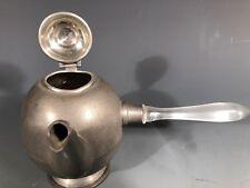 Fine American Pewter antique pot w/ Plastic Lucite handle  ca. 20th century