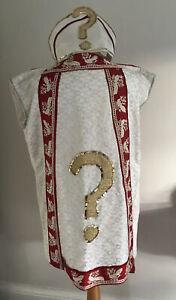 Vintage Mens Pope Costume Bishops Mitre Hat Catholic Priest Fancy Dress Handmade