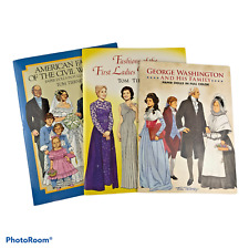 Lot of 3 Tom Tierney Paper Doll Books American History