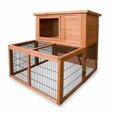 Rabbit Hutch Indoor/Outdoor 2 Storey Guinea Pig Pet Supplies With Run Extension