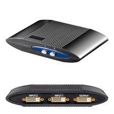 DVI Switch / Umschaltbox manuell - 2x DVI IN / 1x DVI OUT - für z.B. PC / TV