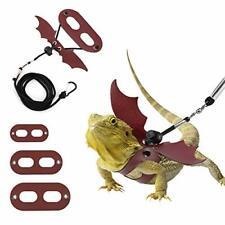 3 Pack Bearded Dragon Lizard Leash Harness Adjustable Bat Wing Soft