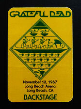 Grateful Dead Backstage Pass Stanley Mouse Egypt 78 Art Long Beach CA 11/13/1987