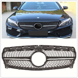 Dimond Style Front Grille for Mercedes Benz W117 C117 CLA Class 2017 2018 Black