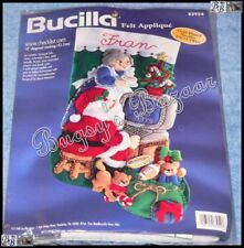 "Bucilla ""www.checklist.com Stocking"" Computer Santa Felt Christmas Kit - 83954"
