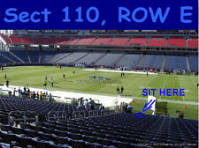 2 LOWER LEVEL 5th ROW Tennessee Titans Season Ticket Rights PSL PSLS SBL SBLS