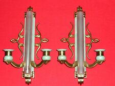 Paire d'appliques bronze doré 1940 art déco ancienne vintage applies L 39,5cm