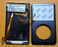 iPod Classic 6th 80gb Front&Back cover+headphone jack+battery assymbly(Black)