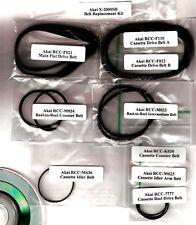 AKAI X-2000 S/SD Reel-2-Reel Belt kit (all 9 belts) + Service Manual  on CD
