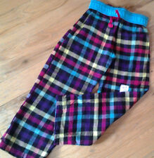 NWT TOTAL GIRL MULTICOLOR CHECK PATTERN FLANNEL LOUNGE PANTS Sz 4 Girl FREE SHIP