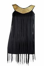 Braid Trim Fringe String Tassel Panel Dance Costume Dress 1m X 2m Black Fashion
