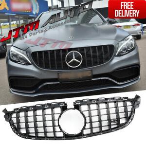 Black GT Bumper Grille Grill to suit Mercedes-Benz AMG C63 C63-S W205 C205 S205