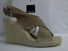 Dolce Vita Size 10 M Sovay Taupe Leather Slingbacks Wedges New Womens Shoes