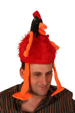 Emu Red Bird With Dangling Legs Novelty Hat Animal Fancy Dress P2378