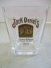 JACK DANIEL'S GOLD MEDAL SHOT GLASS 1913 GHENT BELGIUM FROM 2002 COLLECTION SET