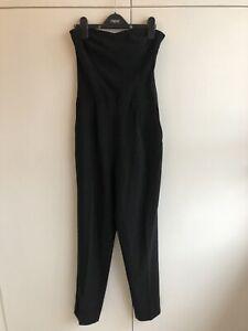 Zara Black Strapless Jumpsuit With Sweetheart Neckline Size XS