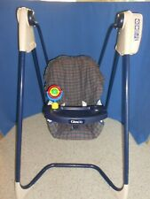 Vtg. Baby Swing Graco open top Works Easy Entry 6 speed Musical Battery op.