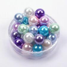 Glaswachsperlen Glas Perlen Farbmix-Pastell 6mm 8mm 10mm Schmuck Engel Basteln