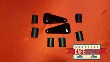 (A) CAFE RACER MATTE BLACK ALLOY HEADLIGHT BRACKETS