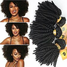 Hair Afro Kinky Curly Weaves Bundles Human Extensions Weft Wave 12 14 16 pc/lot